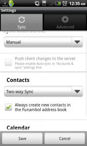 Funambol Android 2