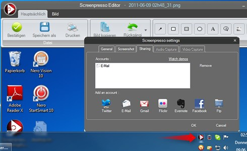 Windows 7 Features Screenpresso