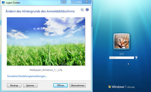 Windows 7 Features Logon Screen