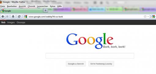Google Eastereggs Google Bork