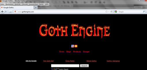 Google Eastereggs Google Gothic