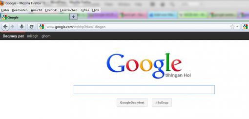 Google Eastereggs Google Klingon