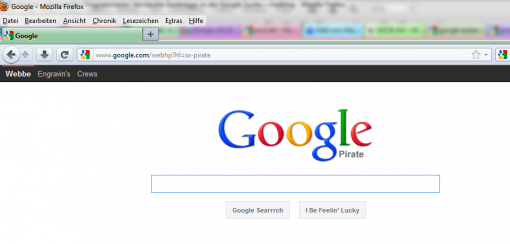 Google Eastereggs Google Pirate