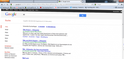 Google Eastereggs Tilt