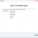 Firefox Sync Server Bild 7