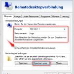 Remotedesktop Verknüpfung 6